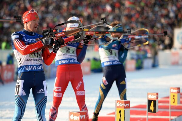 Слева направо: Алексей Волков (Россия), Хенрик Л'Абе-Лунн (Норвегия), Пеппе Фемлинг (Швеция)