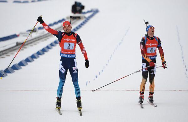 Антон Шипулин (Россия) и Симон Шемпп (Германия) (слева направо)