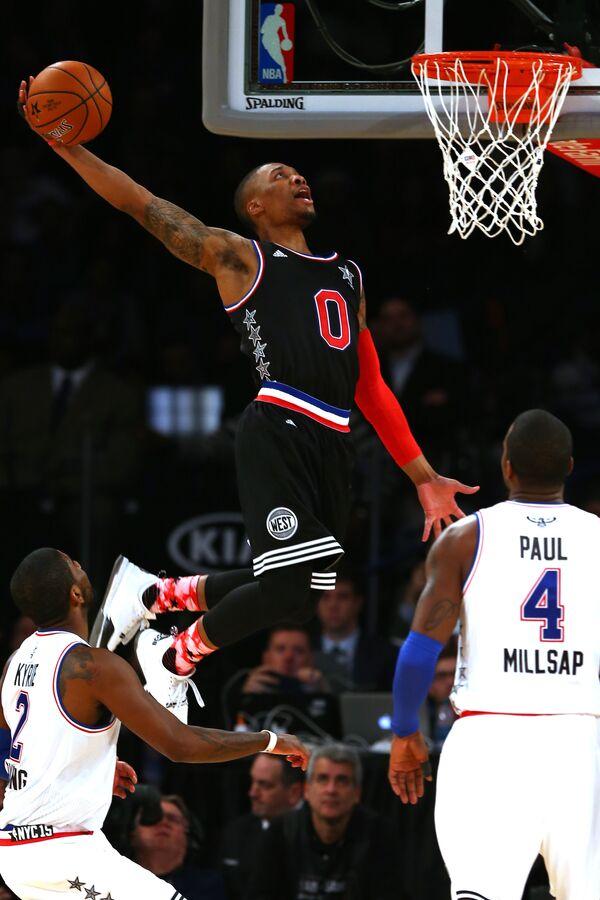 Рассел Уэстбрук (Оклахома-Сити Тандер) на Матче всех звезд НБА - 2015.