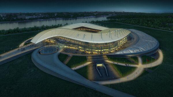 Макет строящегося в Ростове стадиона к чемпионату мира по футболу 2018 года