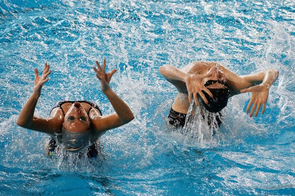 Тренировка сборной России по синхронному плаванию