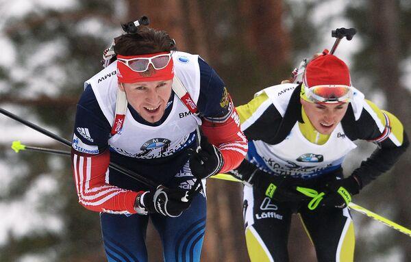 Тимофей Лапшин (Россия) (слева)