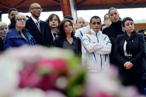 Церемония в память о жертвах авиакатастрофы в Аргентине в Париже