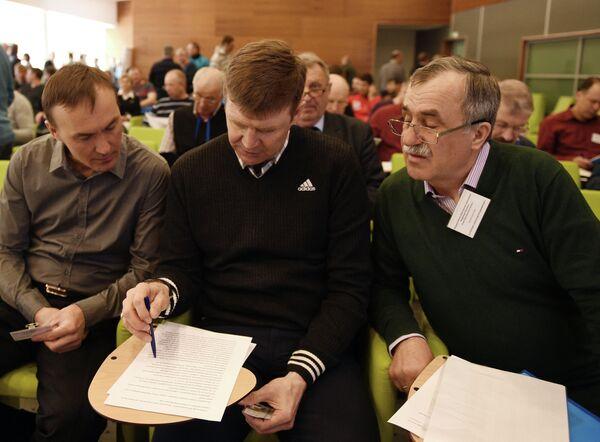 Сергей Башкиров, Андрей Падин и Александр Касперович (слева направо)