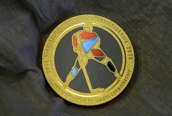 Медаль 7 сезона Континентальной хоккейной лиги