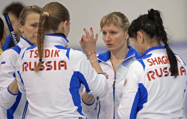 Игроки сборной России по керлингу на Сурдлимпиаде