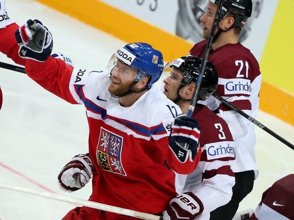Иржи Новотны, Максим Широков и Армандс Берзиньш (слева направо)