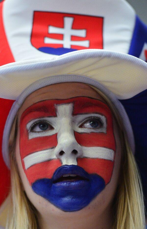 Болельщица сборной Словакии