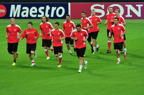 Футболисты чешского клуба Виктория (Пльзень)