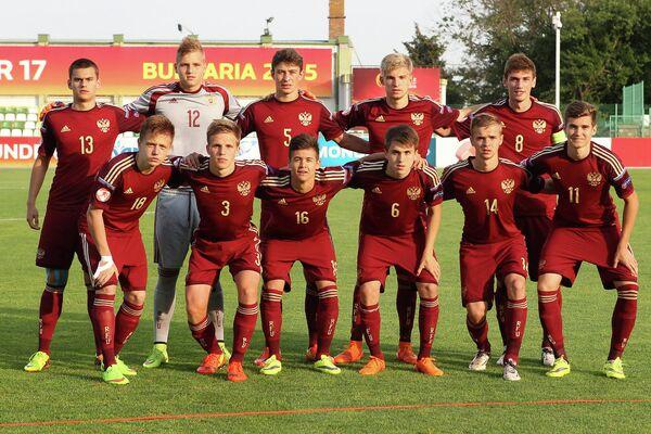 Футболисты юношеской сборной России по футболу