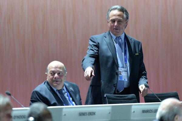 Виталий Мутко и Мариос Лефкаритис (справа налево)