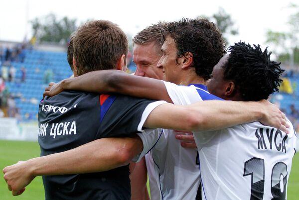 Футболисты ЦСКА после матча 30-го тура