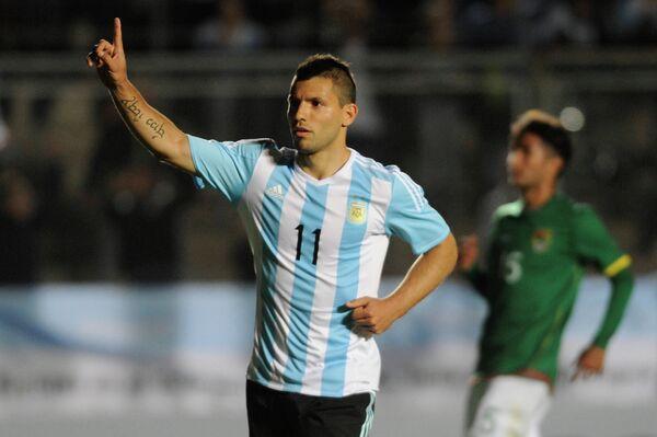 Нападающий сборной Аргентины Серхио Агуэро
