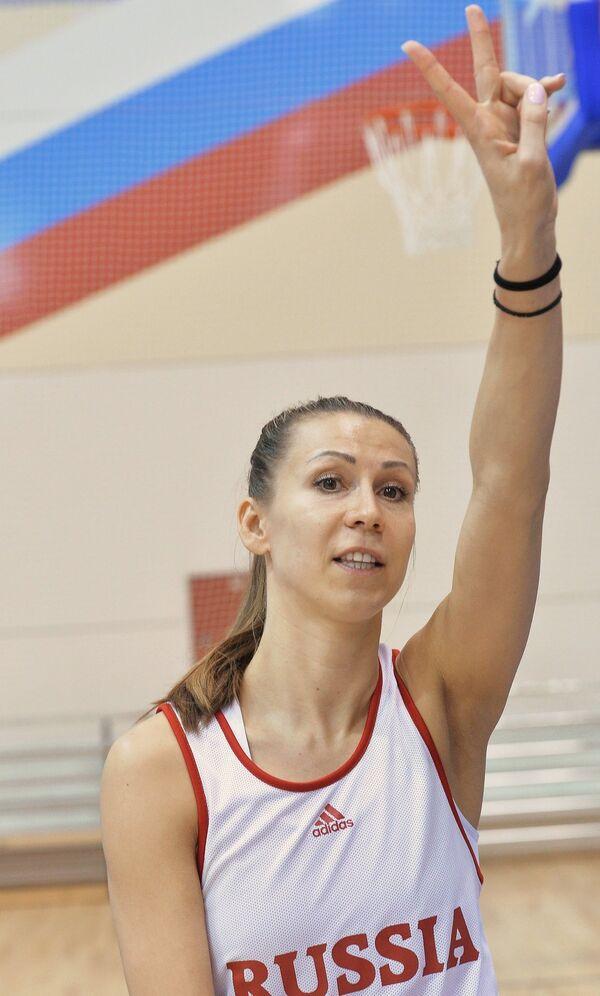 Капитан женской сборной России по баскетболу Евгения Белякова