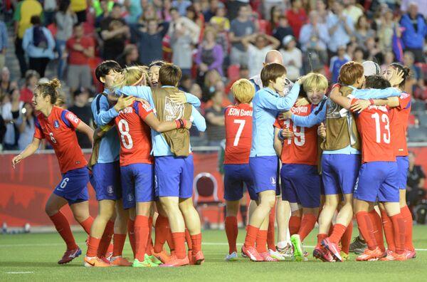 Футболистки сборной Кореи