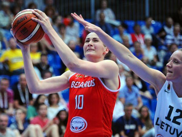 Игровой момент матча Литва - Белоруссия