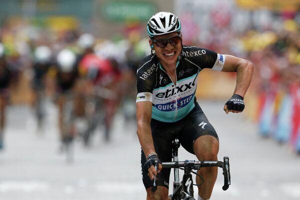 Немецкий велогонщик Тони Мартин из команды Etixx-Quick Step