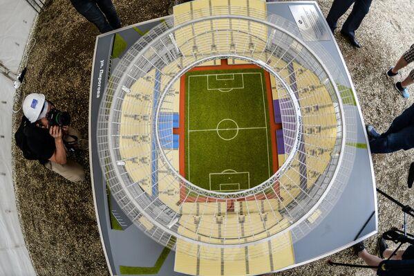 Макет стадиона Центральный в Екатеринбурге
