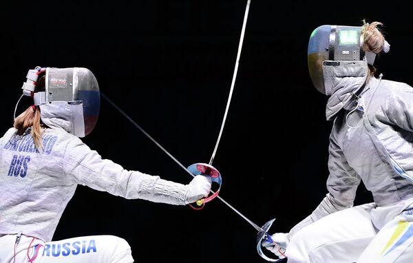 Слева направо: Екатерина Дьяченко (Россия) и Ольга Харлан (Украина)