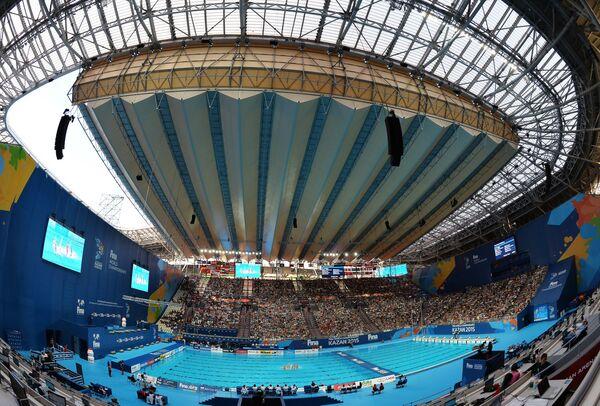Вид на стадион Казань-Арена