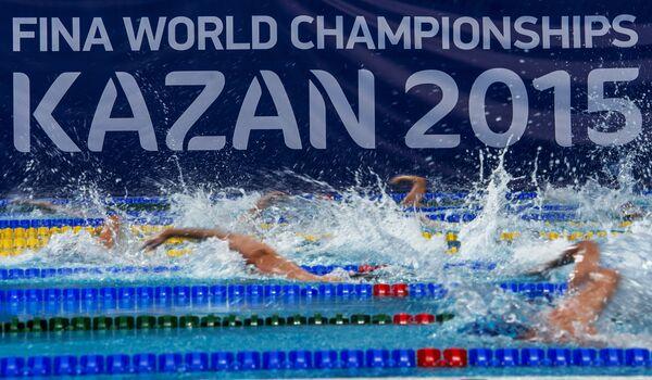 Спортсмены в бассейне Казань-Арена