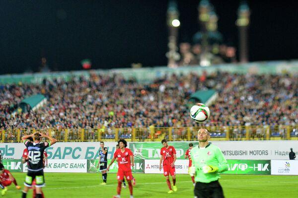 Игровой момент матча Рубин - Штурм