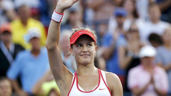 Эжени Бушар на теннисном турнире US Open