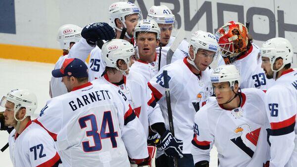Хоккеисты Слована радуются победе
