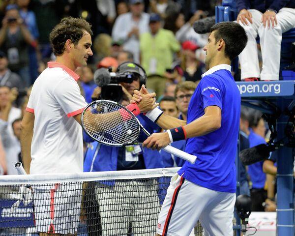 Роджер Федерер и Новак Джокович (слева направо)
