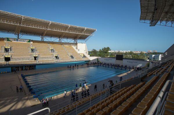 Вид на бассейн Maria Lenk в Рио-де-Жанейро