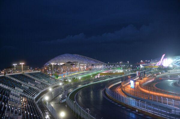 Трасса и сооружения автодрома Гран-при России в Олимпийском парке Сочи