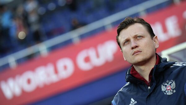 Старший тренер юношеской сборной России по футболу (до 17 лет) Михаил Галактионов