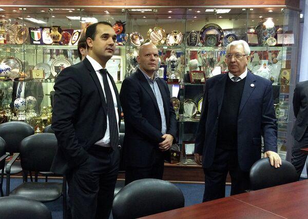 Эмиль Алиев, Жорж Браш и Семен Андреев (слева направо)