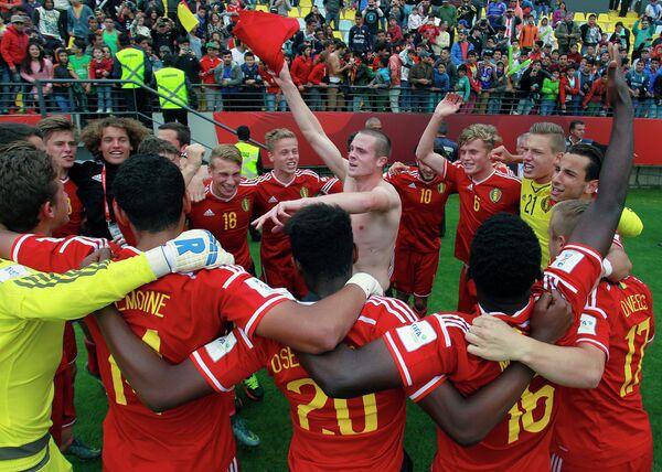 Игроки юношеской сборной Бельгии по футболу