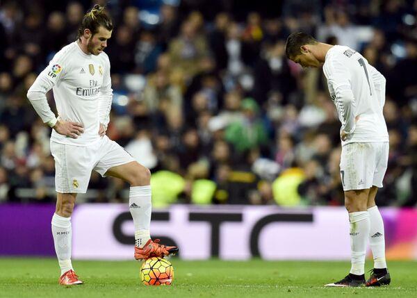 Футболисты Реала Гарет Бейл и Криштиану Роналду (слева направо)