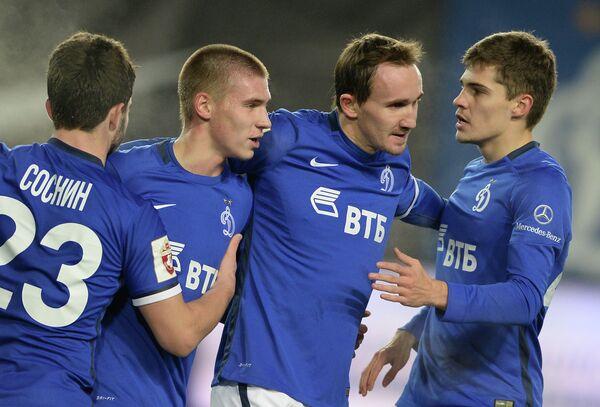 Футболисты московского Динамо