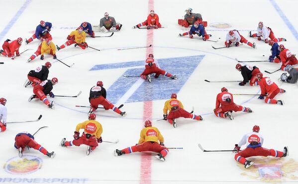 Открытая тренировка национальной сборной России по хоккею