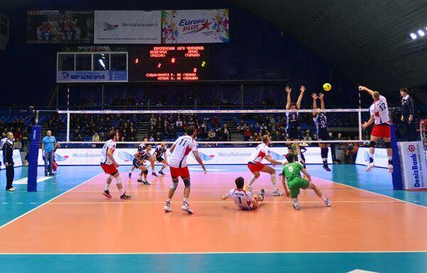 Игровой момент матча Белогорье - Аркас
