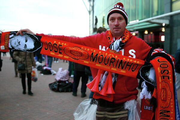 Шарф Манчестер Юнайтед с портретом Жозе Моуринью