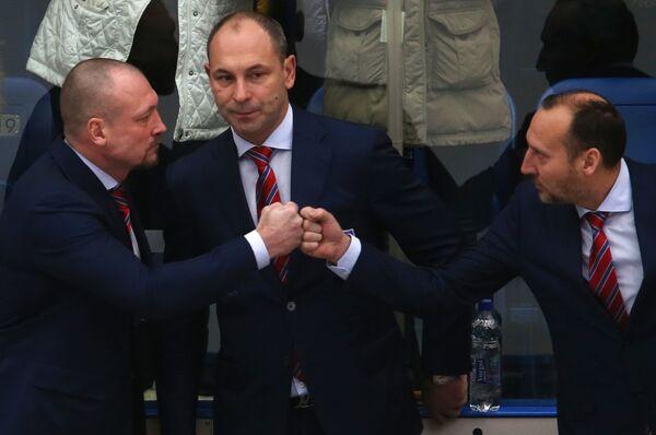 Максим Соколов, Сергей Зубов и Алексей Ярушкин (слева направо)