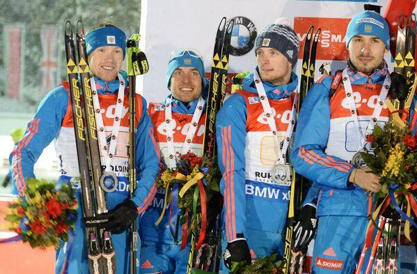 Алексей Волков, Евгений Гараничев, Максим Цветков, Антон Шипулин (слева направо)
