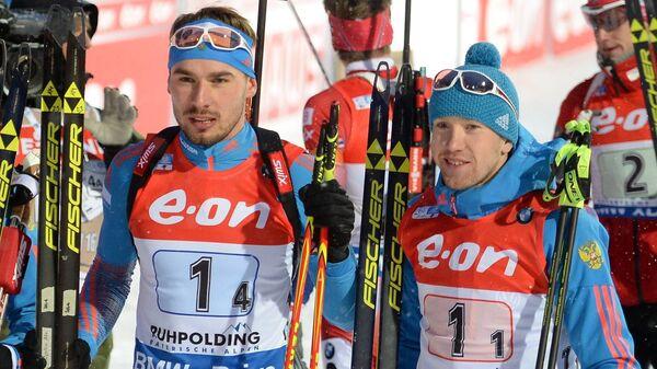 Евгений Гараничев, Максим Цветков, Антон Шипулин, Алексей Волков (слева направо)