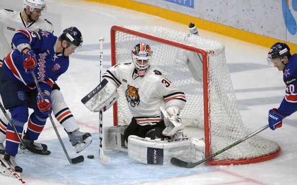 Хоккей. КХЛ. Матч СКА - Амур