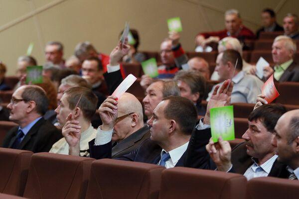 Делегаты на внеочередной отчетно-выборной Конференции Всероссийской федерации легкой атлетики (ВФЛА)