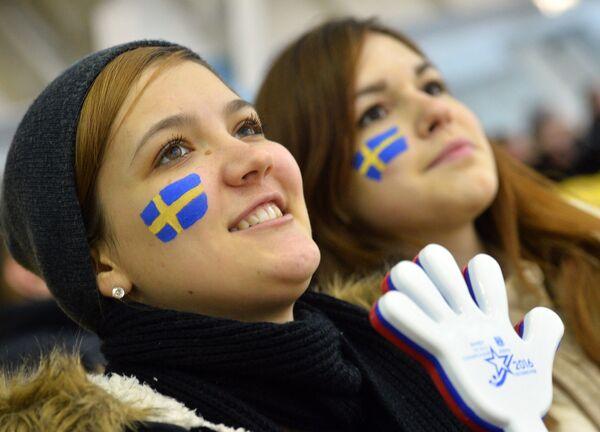 Болельщицы сборной Швеции
