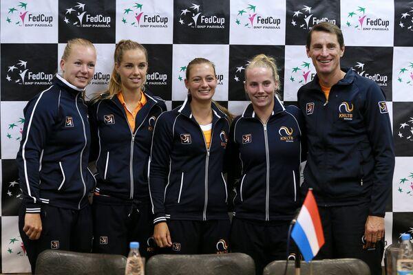 Теннисистки женской сборной Голландии