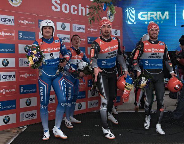 Андрей Богданов, Андрей Медведев, Тобиас Вендль и Тобиас Арльт (слева направо)