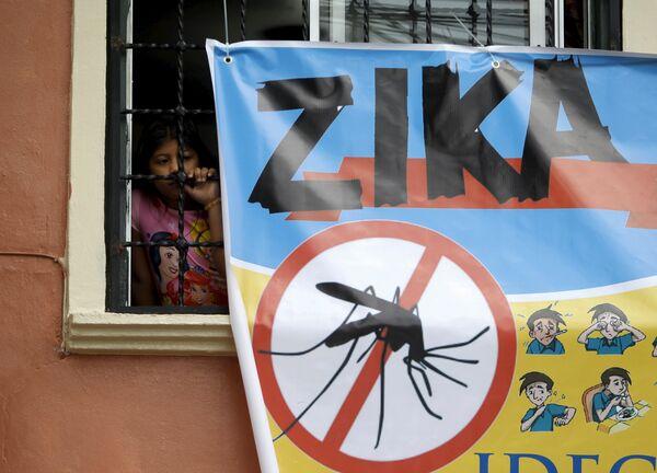 Плакат об опасности эпидемии вируса Зика