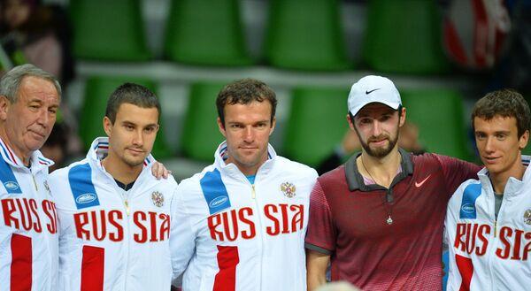 Шамиль Тарпищев, Евгений Донской, Теймураз Габашвили, Константин Кравчук и Андрей Кузнецов (слева направо)