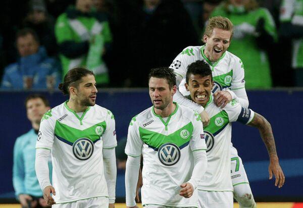 Футболисты немецкого Вольфсбурга